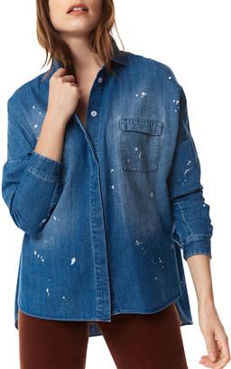 LISA TODD Splash-D Denim Big Shirt
