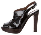 Marni Patent Leather Peep-Toe Sandals