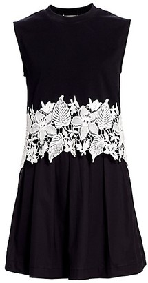 Derek Lam 10 Crosby Lea 2-in-1 Crochet Dress