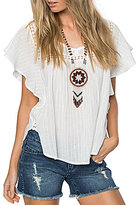 O'Neill Lainey Flutter-Sleeve Lace-Trim Top