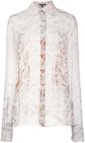 Sophie Theallet sheer marble effect blouse - women - Silk - 4