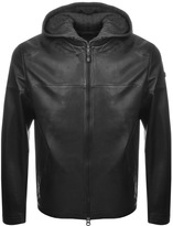 BOSS GREEN Jylion Leather Jacket Black