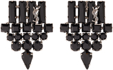 Saint Laurent Crystal-embellished earrings
