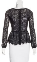 Adriano Goldschmied Lace Long Sleeve Blouse
