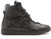 Loewe High-top leather trainers