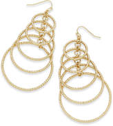 Thalia Sodi Gold-Tone Multi-Circle Drop Earrings, Only at Macy's
