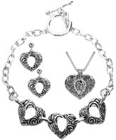 Summit The Aquatic Heart Set Collectible Accessory Earring Necklace Bracelet