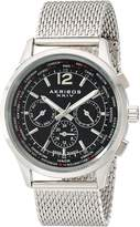 "Akribos XXIV Men's AK716SSB ""Explorer"" Stainless Steel Swiss Multifunction Watch With Mesh Bracelet"