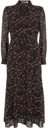 Mint Velvet Erin Animal Midi Shirt Dress