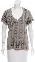 Current/Elliott Geometric Print Short Sleeve T-Shirt