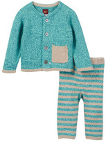Tea Collection Cerro Bonete Blue Sweater Outfit (Baby Girls)