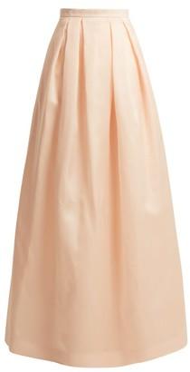 Andrew Gn Full Silk-organza Skirt - Womens - Light Pink