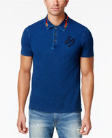 Sean John Men's Indigo Embroidered Polo