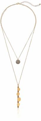 Panacea Women's Pre-Layered Metal Necklace
