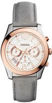Fossil Perfect Boyfriend Round Leather Strap Watch