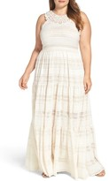 Eliza J Plus Size Women's Tiered Lace Maxi Dress