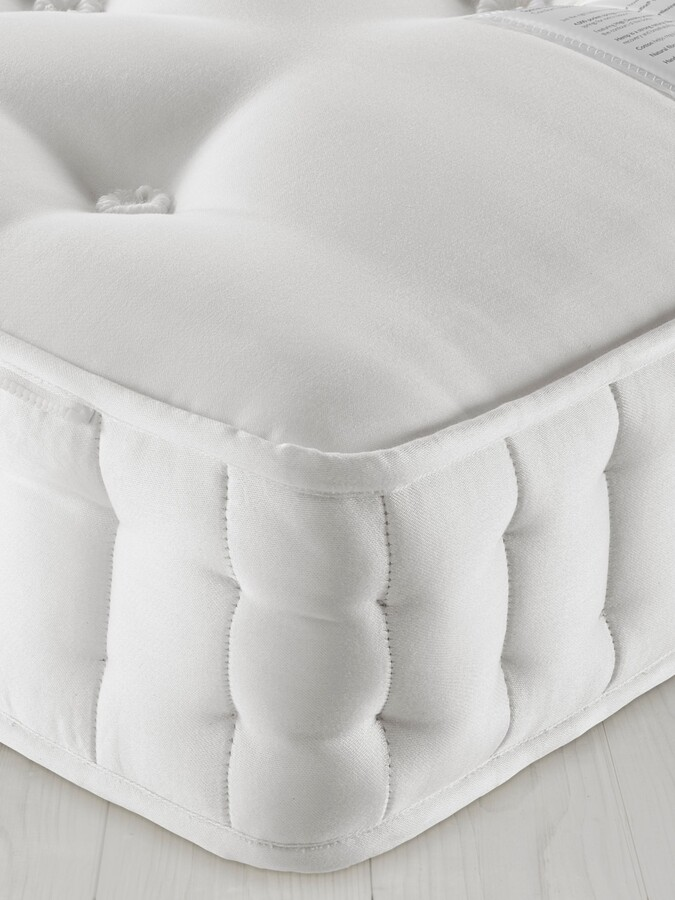 John Lewis & Partners Natural Collection Swaledale Wool 11400, King Size, Firm Tension Pocket Spring Zip Link Mattress
