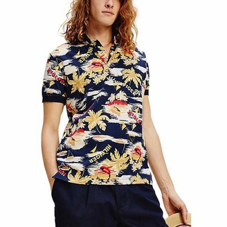 Tommy Hilfiger Men's Summer Print Regular Polo Shirt