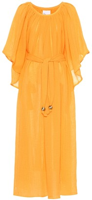 Lisa Marie Fernandez Angel Sleeve linen-blend maxi dress