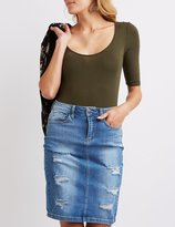 Charlotte Russe Scoop Neck Bodysuit