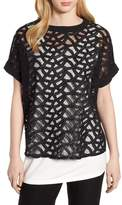 Ming Wang Lace Front Top