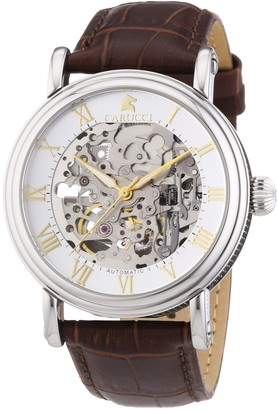Carucci Watches Men's Automatic Watch Catanzaro II CA2203BR with Leather Strap