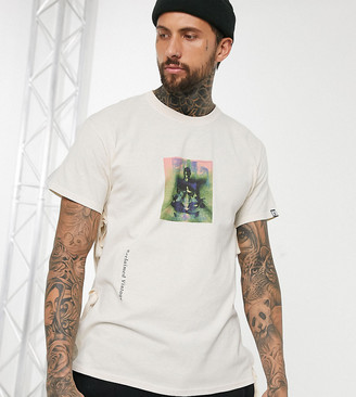 Reclaimed Vintage tshirt with tie sides-Black