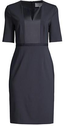 HUGO BOSS Deriba Stretch Sheath Wool Dress