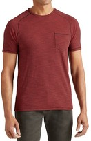 John Varvatos Microstripe Saddle Shoulder Tee