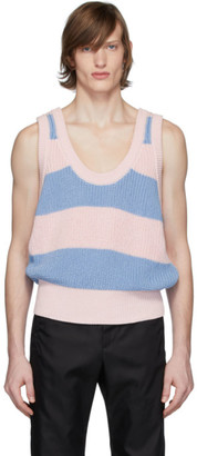 Prada Pink and Blue Costa Tank Top
