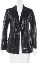 Chanel Sequined Button-Up Blazer