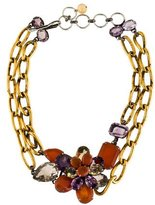 Iradj Moini Multistone Flower Double Strand Necklace