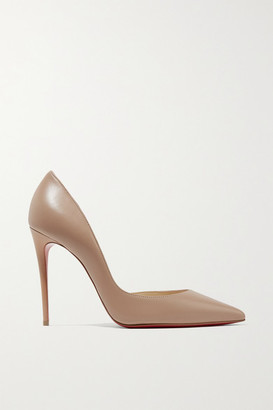 Christian Louboutin Iriza 100 Leather Pumps - Beige