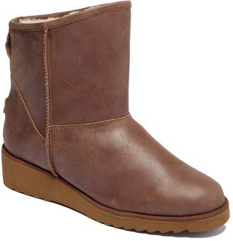 Australia Luxe Collective Women's Cold Weather Boots Partridge - Partridge Fur-Lined Joshua Leather Ankle Wedge Boot - Women