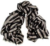 Black Addison Merino Wool and Silk Scarf