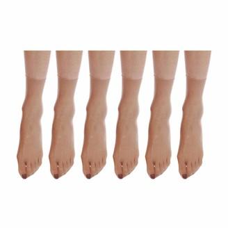 ElsaYX Womens Nylon Fishnet Seamless Mesh Sheer Ankle Pop Short Socks 6 Pairs or 12 Pairs
