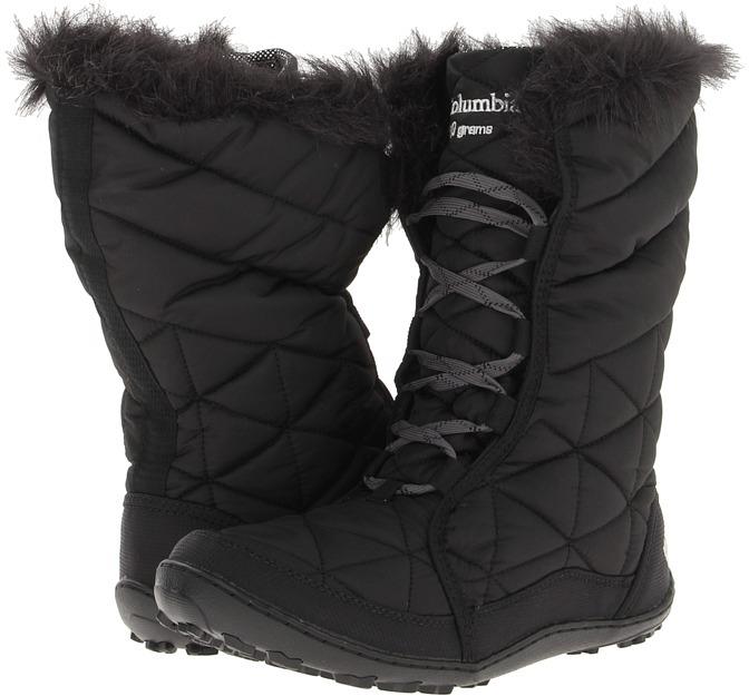 Columbia Kids - Minx Mid Omni-Heat (Little Kid/Big Kid) (Black) - Footwear