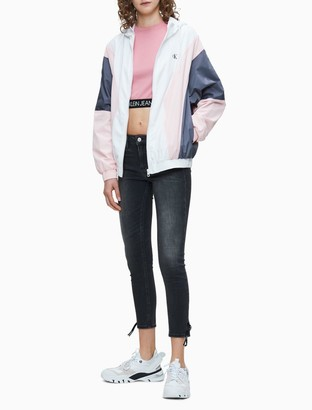 Calvin Klein Colorblock Monogram Logo Hooded Jacket