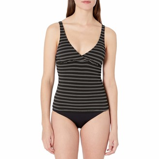 Chaps Women's Over The Shoulder Surplice Tankini Swimsuit Top