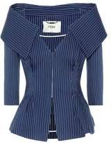 Fendi Off-the-shoulder cotton-blend jacket