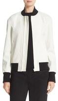 DKNY Women's Rib Trim Bomber Jacket