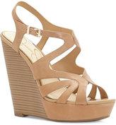Jessica Simpson Brissah Strappy Platform Wedge Sandals Women's Shoes