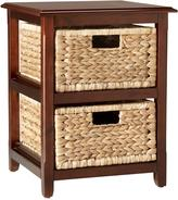 Generics 2-Drawer Upright With Natural Finish Wicker Basket Storage