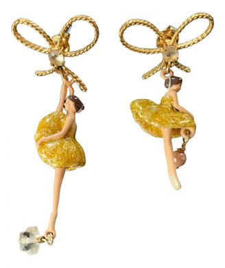 Les Nereides Gold Steel Earrings