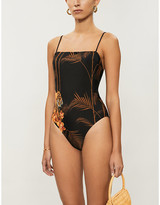 Ted Baker Floral-print low-back swimsuit
