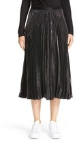 Diane von Furstenberg Women's Heavyn Metallic Pleated Midi Skirt
