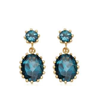 Astley Clarke Linia London Blue Topaz Drop Earrings