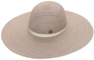 Maison Michel Blanche Wide Trim Straw Hat
