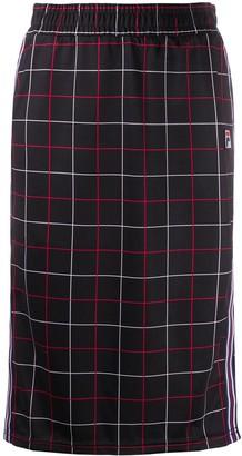 Fila Check-Print Midi Skirt