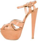 Giambattista Valli Leather Platform Sandals